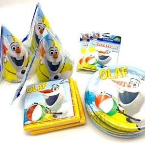 🆕 Disney Frozen Olaf Party Supplies Pack